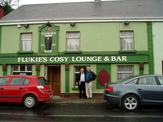 "Celebrations followed at ""Flukie's Cosy Lounge & Bar"""